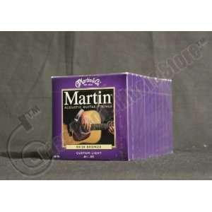 Bulk 12 Sets Martin, Acoustic Guitar Strings, 80/20 Bronze
