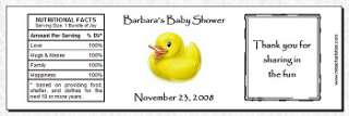 48 Personalized Baby Shower Water Bottle Favor Labels