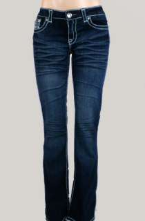 Miss La Idol Jeans Rhinestone Cross True To Size. 1 13