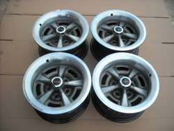PONTIAC GTO FIREBIRD PMD TRANSAM 15X6 RALLY WHEELS ORIGINAL RIMS SET