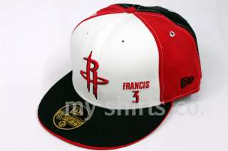 Houston Rockets NBA New Era Black Red Fitted Cap NEW