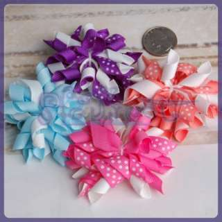 16 LOT 4 Color Girls Infant Baby COSTUME Hair Bow/ Clip
