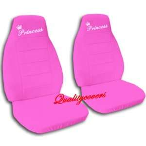 2 Hot pink Princess car seat covers, for a 2003 Toyota