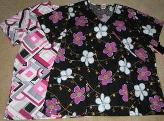 PHAT DICKIES WOMANS CLOTHING UNIFORM SCRUB SHIRT TOP 2X XL NWT