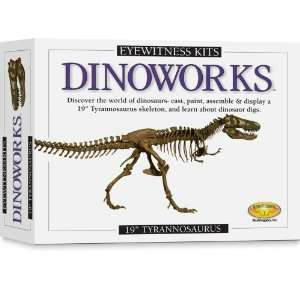 Kit Dinoworks Tyrannosaurus Rex Skeleton Casting Kit Toys & Games