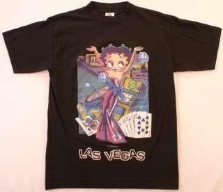 Betty Boop Las Vegas M T Shirt Black Slots Dice Cards