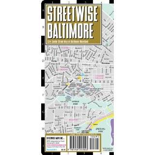Streetwise Baltimore Map   Laminated City Center Street Map of